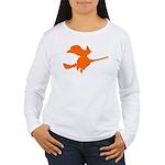 Orange Witch Women's Long Sleeve T-Shirt