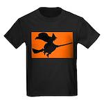 Orange Witch Kids Dark T-Shirt