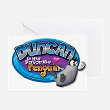 Duncan Penguin Greeting Card