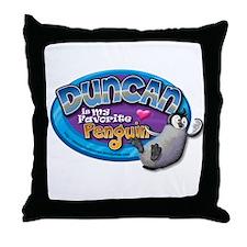 Duncan Penguin Throw Pillow