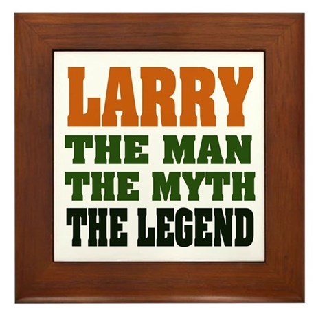 LARRY - The Legend Framed Tile
