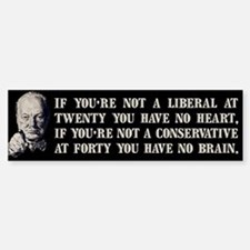 Churchill on Liberals Bumper Bumper Sticker