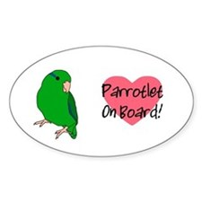 Parrotlet On Board Oval Decal