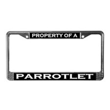 Property of Parrotlet License Plate Frame