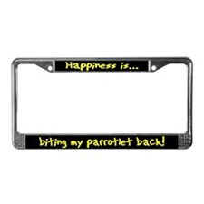 HI Biting Parrotlet License Plate Frame