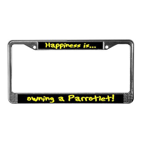 HI Owning Parrotlet License Plate Frame