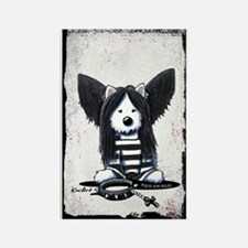 Dark Angel Westie Rectangle Magnet