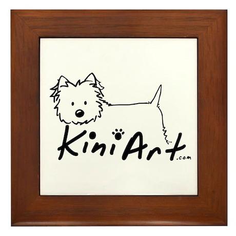 A KiniArt Westie Logo Framed Tile