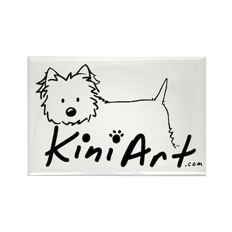 A KiniArt Westie Logo Rectangle Magnet