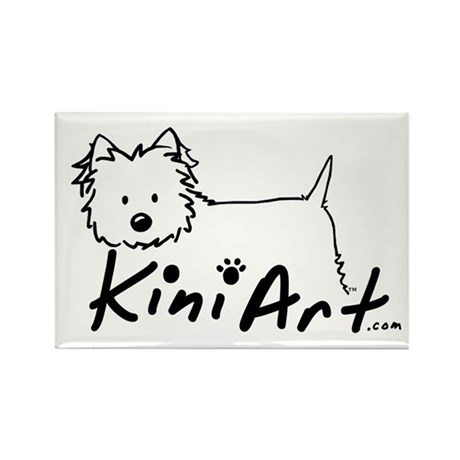 A KiniArt Westie Logo Rectangle Magnet (100 pack)