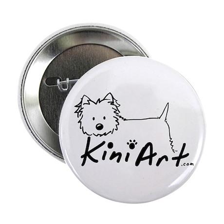 "A KiniArt Westie Logo 2.25"" Button"