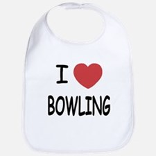 I heart bowling Bib