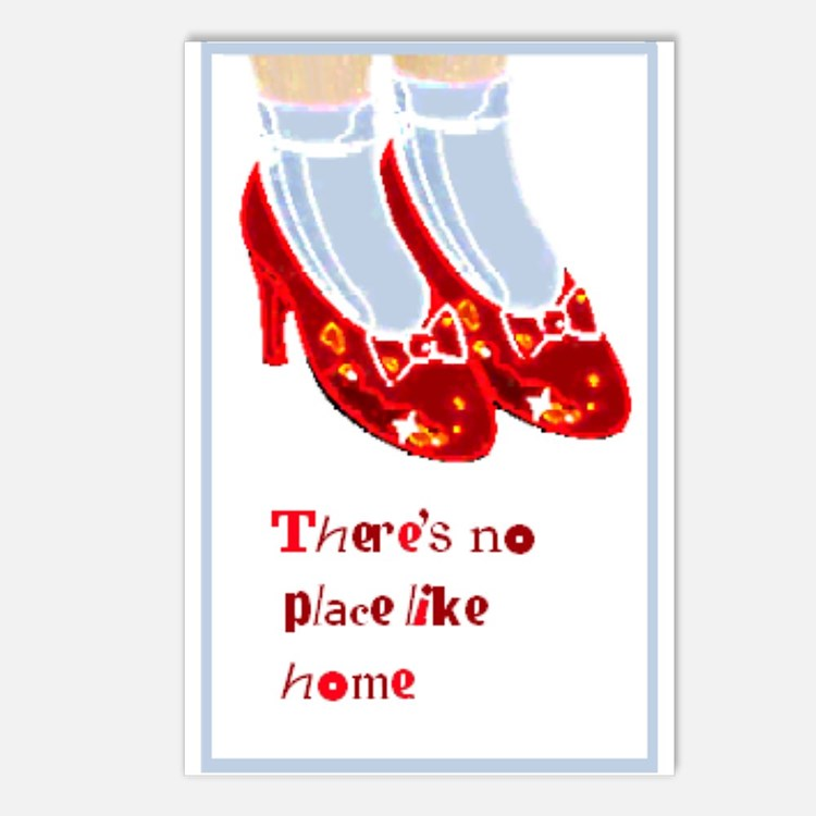 Red Ruby Slippers Postcards (Package of 8)