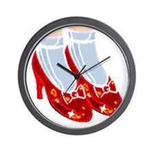 Red Ruby Slippers Wall Clock