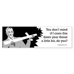 Crucifix Crammer Bumper Sticker