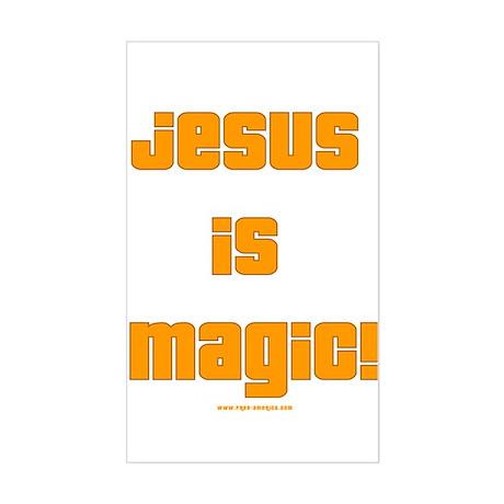 Jesus is Magic! Rectangle Sticker