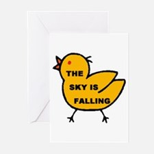 SKY FALLING Greeting Cards