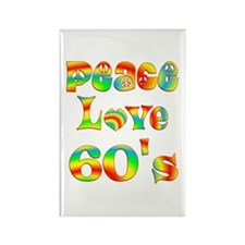Retro 60's Rectangle Magnet