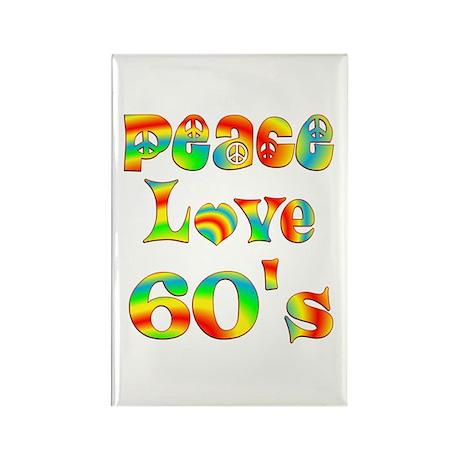 Retro 60's Rectangle Magnet (100 pack)