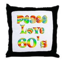 Retro 60's Throw Pillow