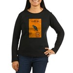 Scared / crow - Women's Long Sleeve Dark T-Shirt