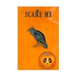 Scared / crow - Mini Poster Print