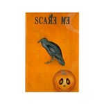 Scared / crow - Rectangle Magnet (100 pack)