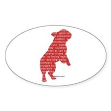 Red Word Silhouette (Beg) Decal