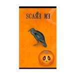 Scared / crow - Sticker (Rectangle)