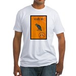 Scared / crow - Fitted T-Shirt
