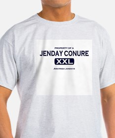 Property of Jenday Conure Grey T-Shirt