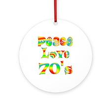 Retro 70's Ornament (Round)