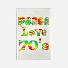Retro 70's Rectangle Magnet