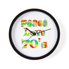 Retro 70's Wall Clock