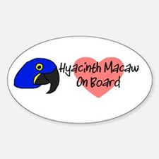Hyacinth Macaw On Board Oval Decal