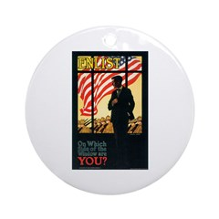 Enlist Poster Art Ornament (Round)