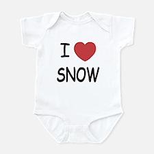 I heart snow Infant Bodysuit
