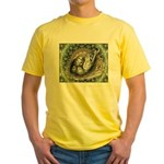 Nesting Pigeons Decorative Yellow T-Shirt