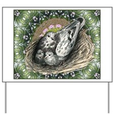 Nesting Pigeons Decorative Yard Sign