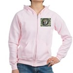 Nesting Pigeons Decorative Women's Zip Hoodie