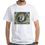 Nesting Pigeons Decorative White T-Shirt