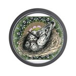 Nesting Pigeons Decorative Wall Clock