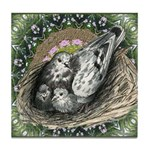 Nesting Pigeons Decorative Tile Coaster
