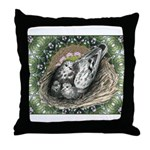 Nesting Pigeons Decorative Throw Pillow