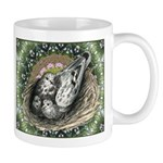Nesting Pigeons Decorative Mug