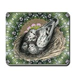 Nesting Pigeons Decorative Mousepad