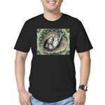 Nesting Pigeons Decorative Men's Fitted T-Shirt (d
