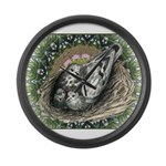 Nesting Pigeons Decorative Large Wall Clock
