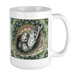 Nesting Pigeons Decorative Large Mug