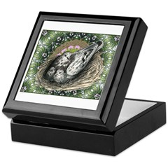 Nesting Pigeons Decorative Keepsake Box